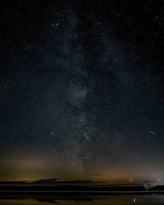 Night Sky, Lake on the Mountain, Prince Edward County, September 24, 2019, Canon EOS R, Sigma 20mm, 10 sec, F1.4, ISO 800