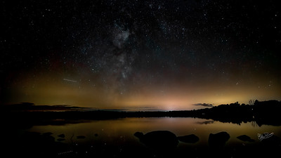 Night Sky, Lake on the Mountain, Prince Edward County, September 24, 2019, Canon EOS R, Sigma 20mm, 13 sec, F1.4, ISO 800