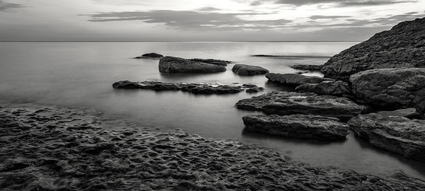 Black and White late evening shot at Point Petre, Prince Edward County, September 19,2017, Canon 6D, Sigma 20mm, 5 sec, F16, ISO 50