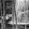 Waterfall in Black and White, Jackson Falls, Prince Edward County, January 28,2017,Canon 6D, 1/6 sec, F9, ISO 50