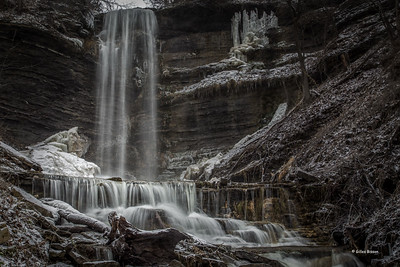 Waterfall, Waupoos, Prince Edward County, January 28,2017,Canon 6D, .3sec, F20, ISO 50