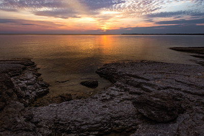 Sunset at Point Petre, Prince Edward County, Canon 6D, Sigma 20mm, 1/10 sec, F16 ISO 50