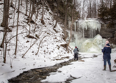 Jackson Falls in Winter