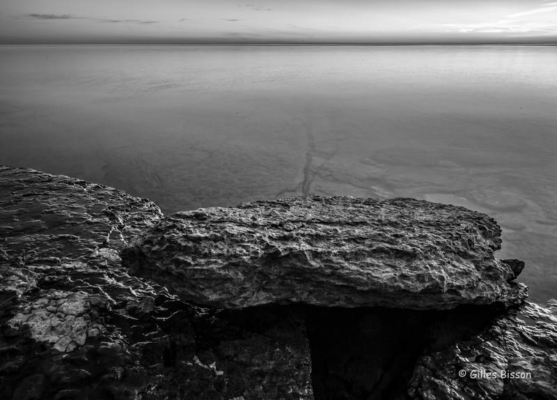 B&W Shoreline rocks