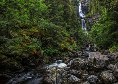 Mot Fettjeafallet, Waterfall, Klovsjo, Northern Sweden, Jamtland,Canon 6d, 1sec, F16, ISO 50