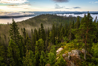 View from the top of Hoverberget mountain, Jamtland, Northern Sweden, July 29, 2017, Canon 6D, 1/160, F 9.0, ISO 250