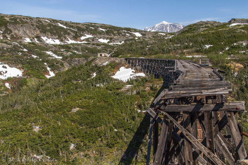 Old bridge seen on White Pass train, Yukon, June 23 2012