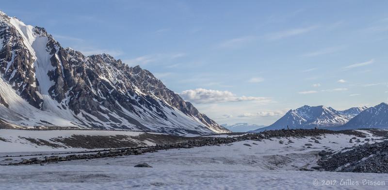 On top of a Glacier in Denali National Park, Alaska, June 17 2012