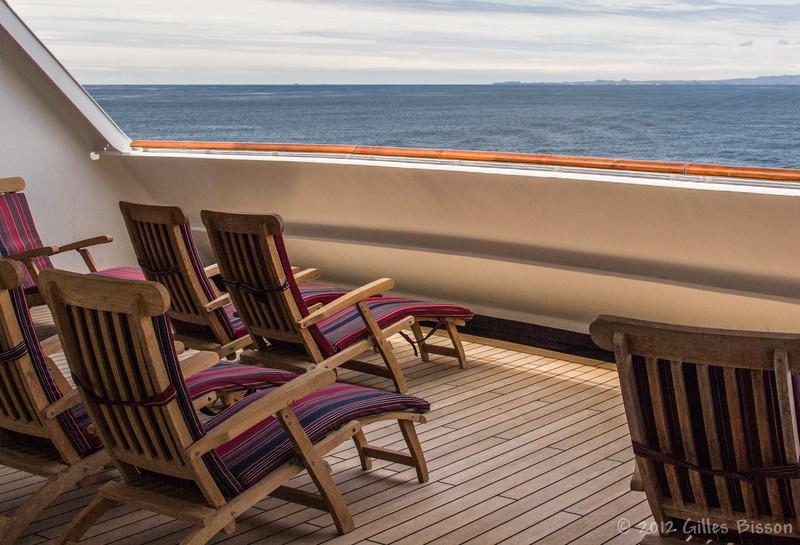 Deck  from Volendam Cruise Ship, Alaska, June 26 2012