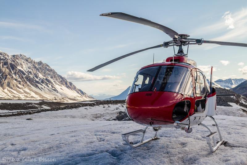 Helicopter on Glacier, Denali National Park, Alaska, June 17 2012