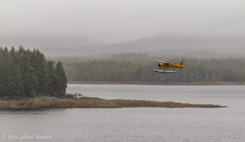 Plane taking off in Ketchikan, Alaska, June 25 2012