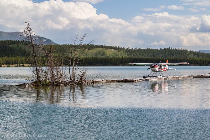 Plane parked on Yukon river, June 22 2012