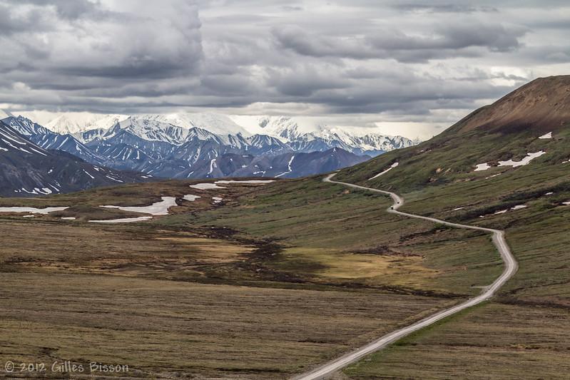 View of Mt Mckinley in Denali National Park, Alaska, June 17 2012