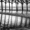 Sunrise at the Pier in black and White, Myrtle Beach,South Carolina, April 15, 2017, Canon 6D,  .6sec, F16, ISO 50