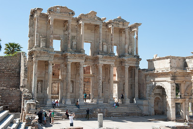 Ephesus Public Library.  Complete with underground tunnel to the brothel located across the street.