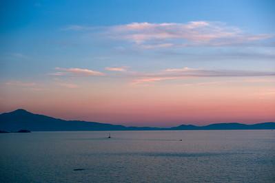 Ocean sunset near Kusadasi