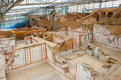 Ephesus Terrace Houses.  Homes of the wealthy built into the hillside overlooking the city.  Still being excavated today.
