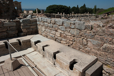 Ephesus Public Facilities.  Not depicted: fountain in the middle of this room to muffle the noises :)