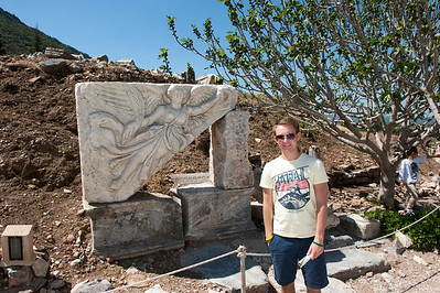 Ephesus - Tyler with Nike, Goddess of Victory.  See the swoosh??