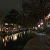 San Antonio texas down on the river walk during Christmas time 2018