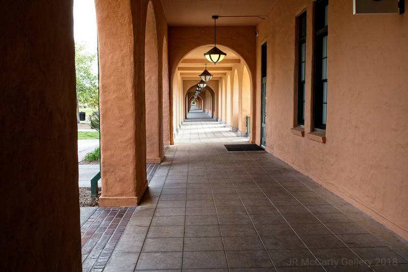 One of the long hallways at Liberty station. Great place for food and shopping