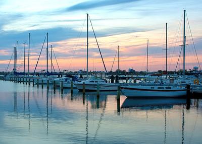boat sunset5x7