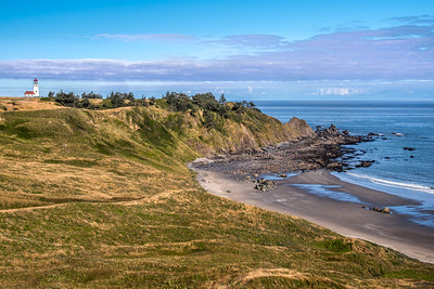 """Cape Blanco Lighthouse and Beach"""