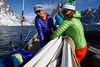 McKenna Peterson & Pip Hunt putting the main sail away on the La Louise.