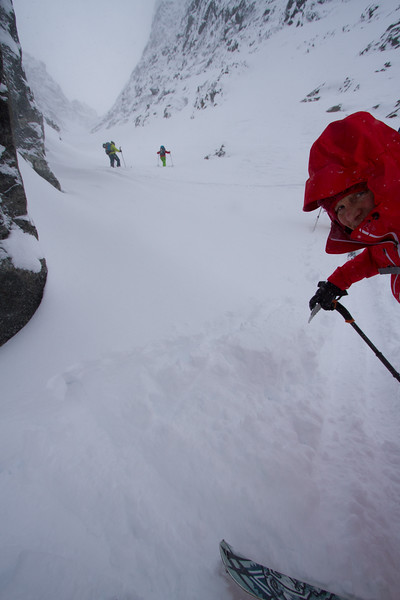 Martha enjoying (wink wink) the steep skin track put up by the other gals.