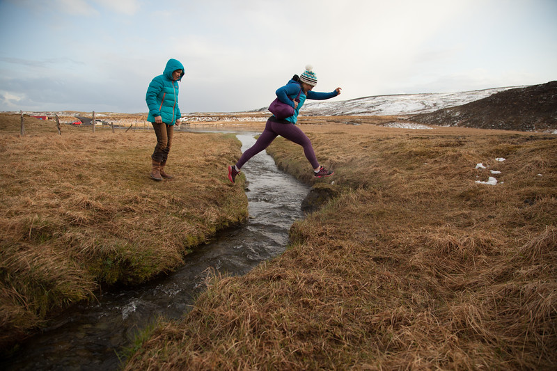 Pip Hunt en route to a remote hotspring in Iceland.