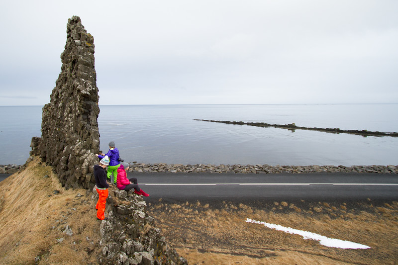 Meghan Kelly, McKenna Peterson, & Pip Hunt stop for a break from driving en route to the West Coast of Iceland.