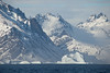 Beautiful mountains & icebergs on the Southern tip of Greenland.
