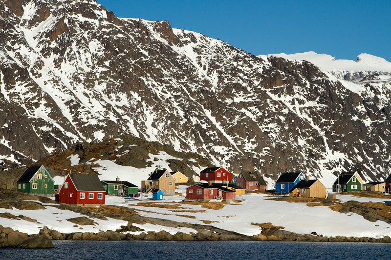 The first village spotted in South Greenland.