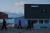 The Shifting Ice Team cruising the streets of Nanortalik, South Greenland.