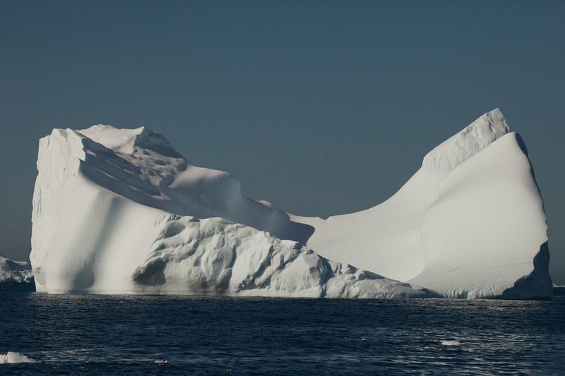 A pristine iceberg in South Greenland.