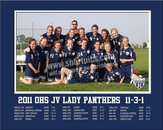 2011 16x20 JV Lady Panthers Team