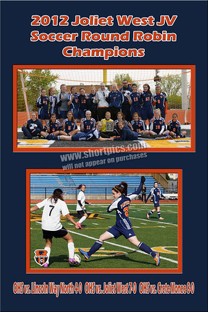"12""x18"" Joliet JV Round Robin Champions Print w Horizontal Player Picture"