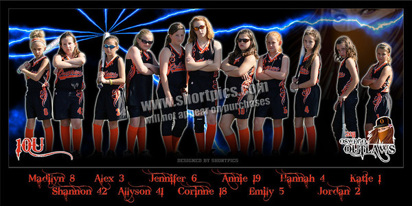 2011 10U Outlaws Team Poster