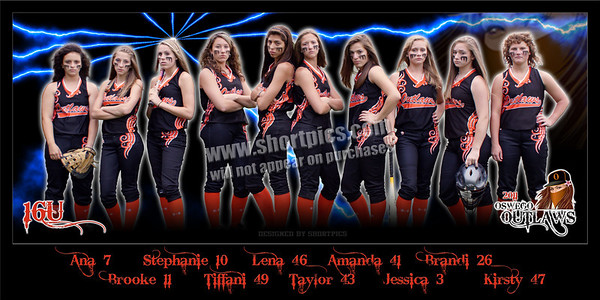2011 Outlaws 16U Team Banner Poster
