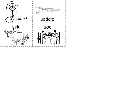 Use with alternate story telling.  Cut along dotted lines and fold on solid lines.