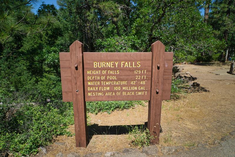 Burney Falls Stats