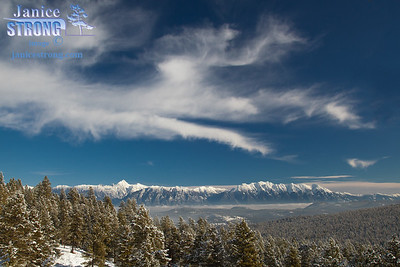 9640-Fisher Peak and the Steeples Mountains of the BC Rockies in Winter