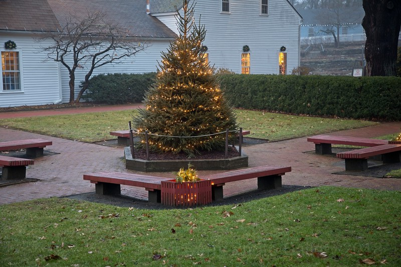 Christmas time at Sturbrige Mass.  old town (outside)