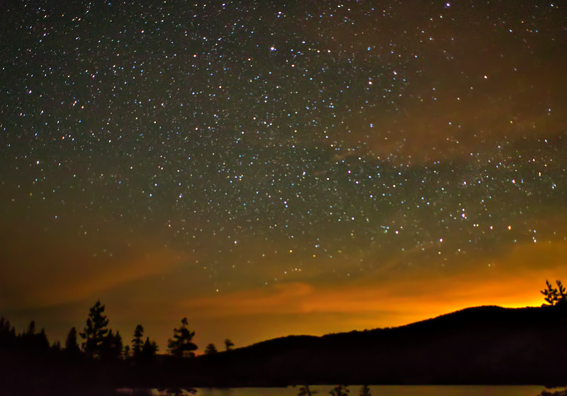 A Starlit sunset at Rubicon Lake