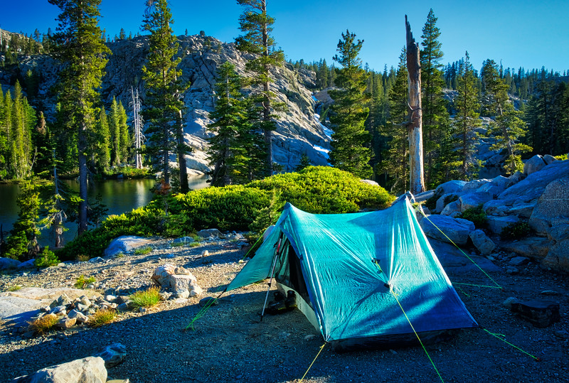 Camp at one of the lakes in 5 Lakes Basin