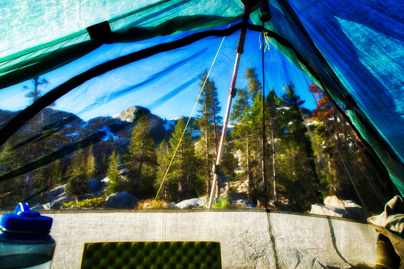 Morning views from my tent