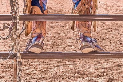 """""""Western Boots on Fence"""""""