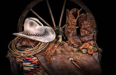 """A Cowboy's Nightstand - Closeup"""