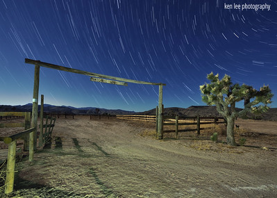 Star Trails at the OK Corral