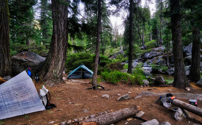 Camp along Canyon Creek